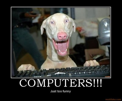 Computerspccomputersfunnydogdemotiv